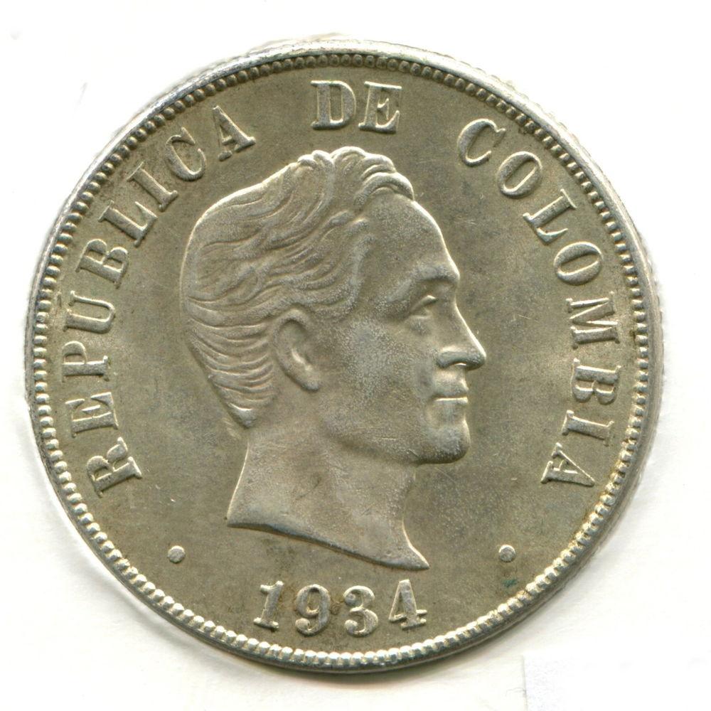 Колумбия 50 сентаво 1934 BU - 1