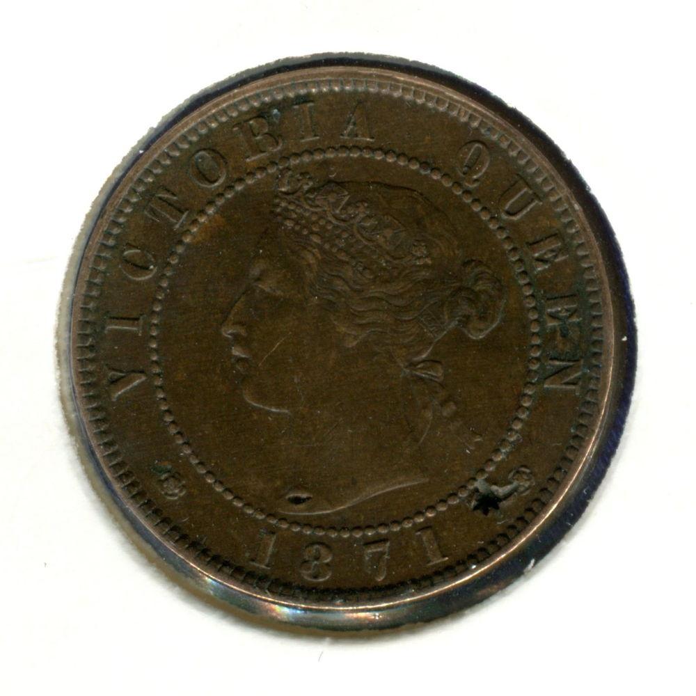 Канада/Остров принца Эдуарда 1 цент 1871 XF #4 - 1