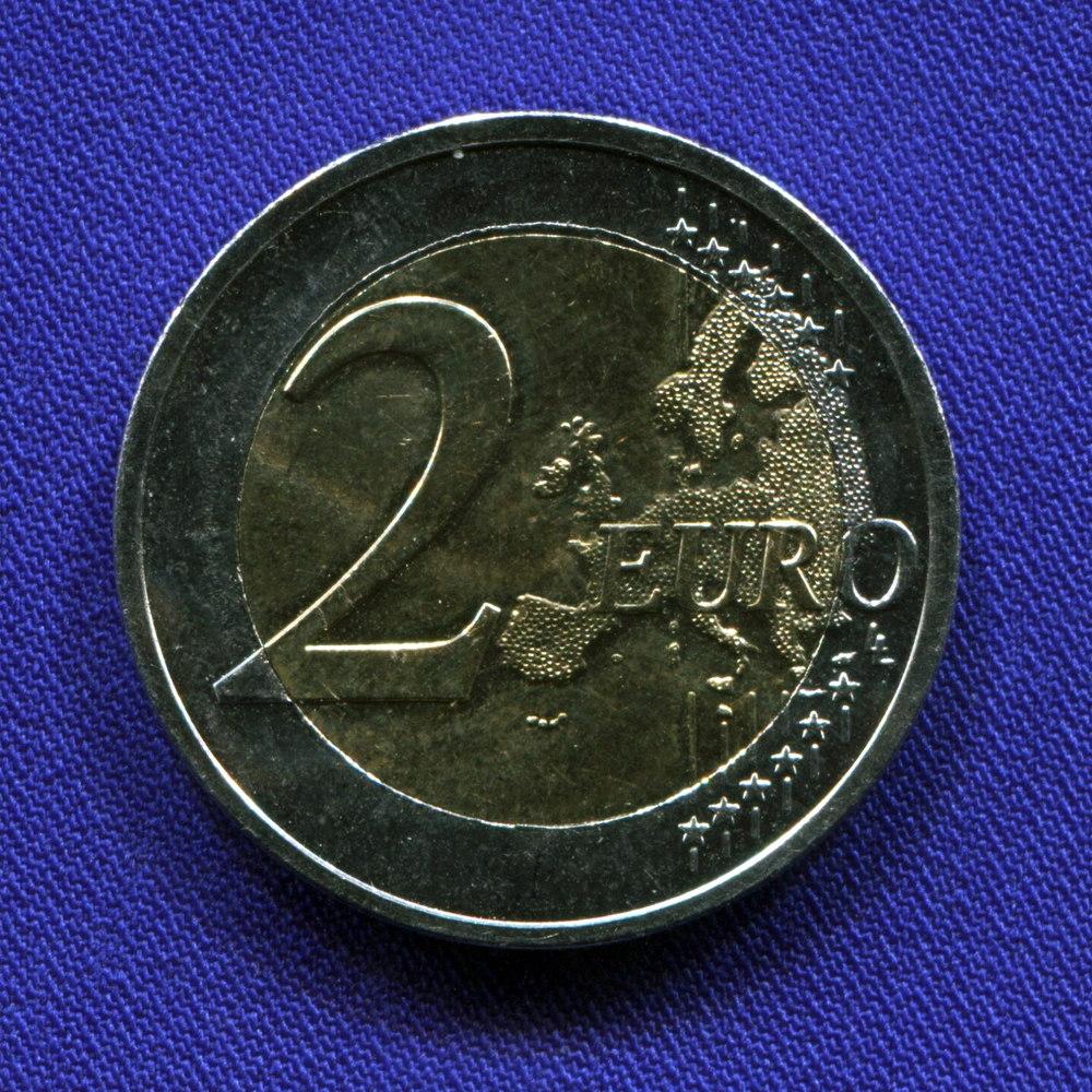 Греция 2 евро 2015 UNC Спиридон Луис  - 1