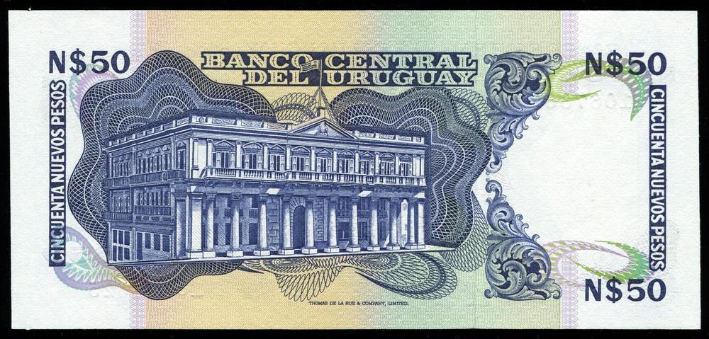 Уругвай 50 песо ND (1975)  UNC - 1
