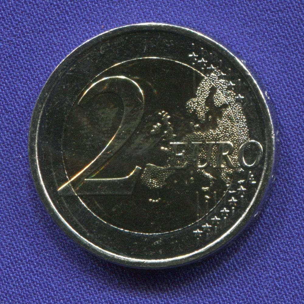 Греция 2 евро 2016 UNC 120 лет со дня рождения Димитриса Митропулоса  - 1