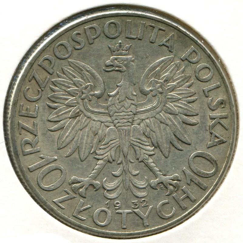Польша 10 злотых 1932W #22 XF - 1