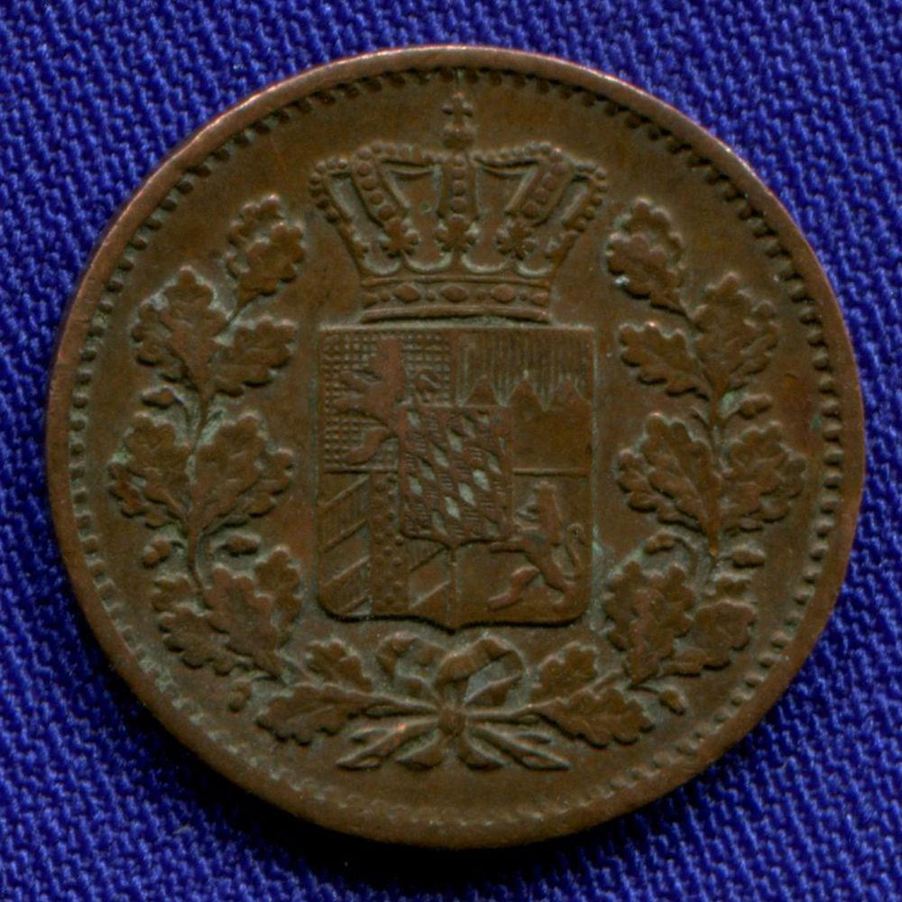 Германия/Бавария 1 пфенниг 1863 VF - 1