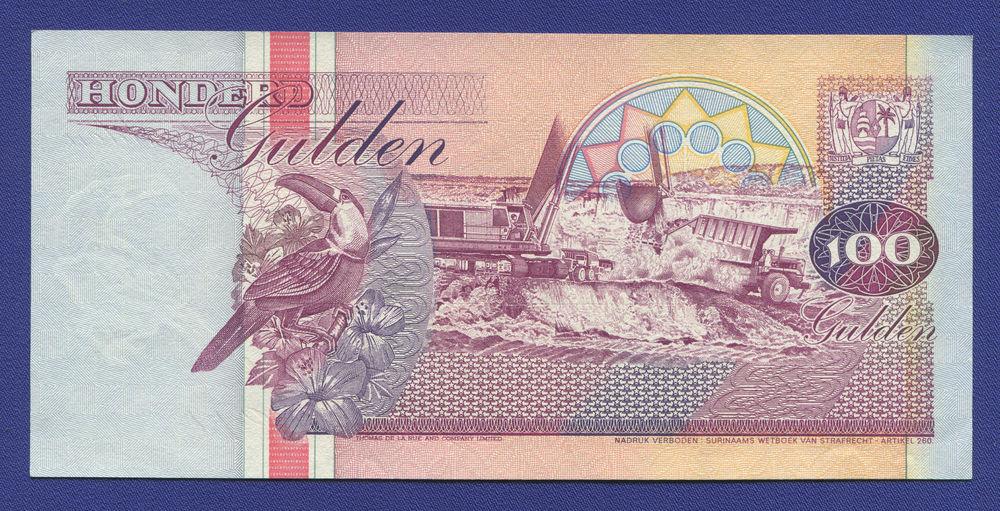 Суринам 100 гульденов 1991 aUNC - 1