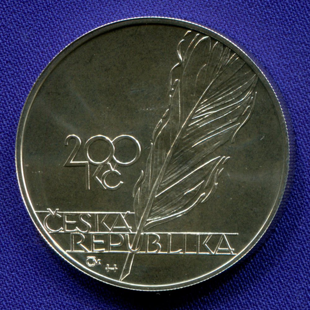 Чехия 200 крон 2003 UNC Ярослав Врхлицкий  - 1