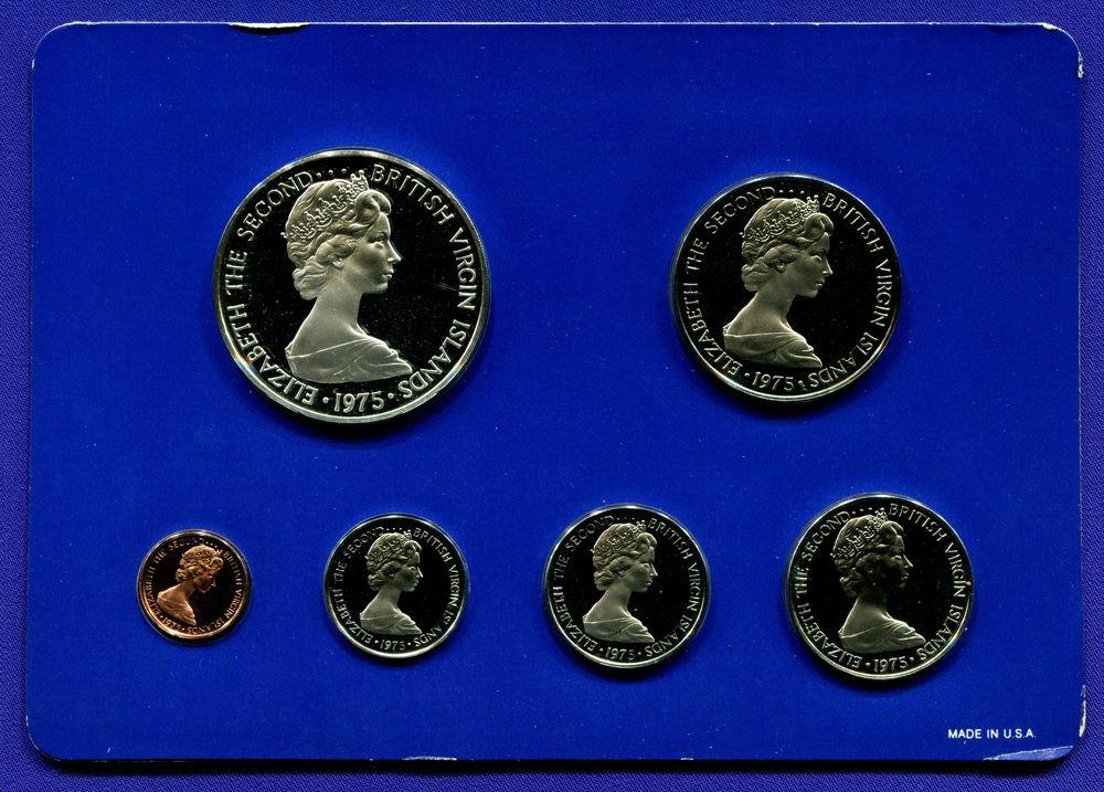 Британские Виргинские острова набор - 6 монет 1975 Proof  - 1
