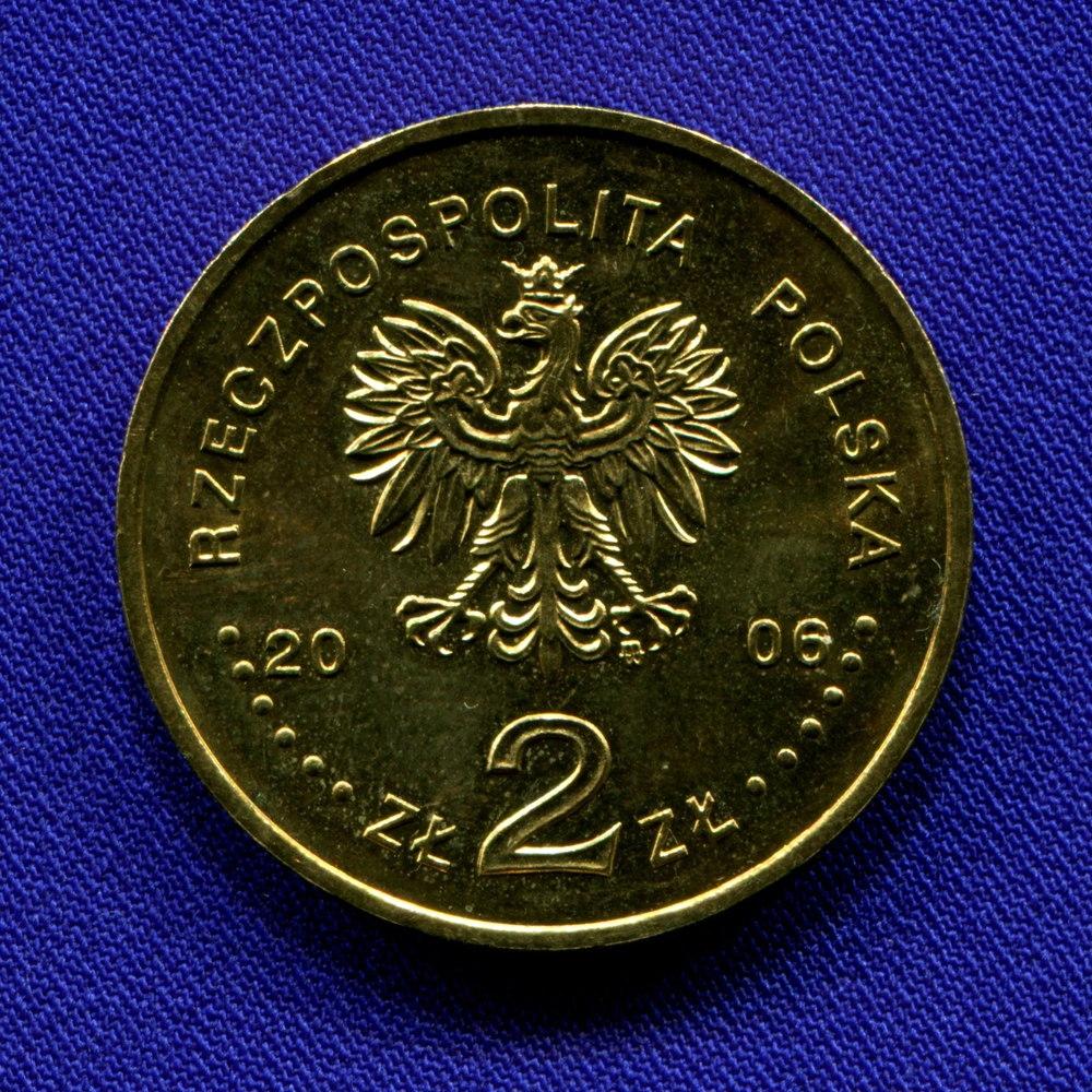 Польша 2 злотых 2006 aUNC Зимние Олимпийские игры в Турине  - 1