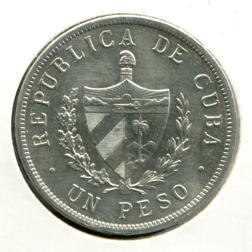 Куба 1 песо 1934 GVF  - 1