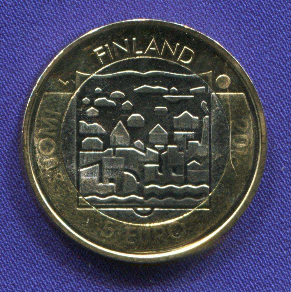 Финляндия 5 евро 2016 UNC Пер Эвинд Свинхувуд  - 1