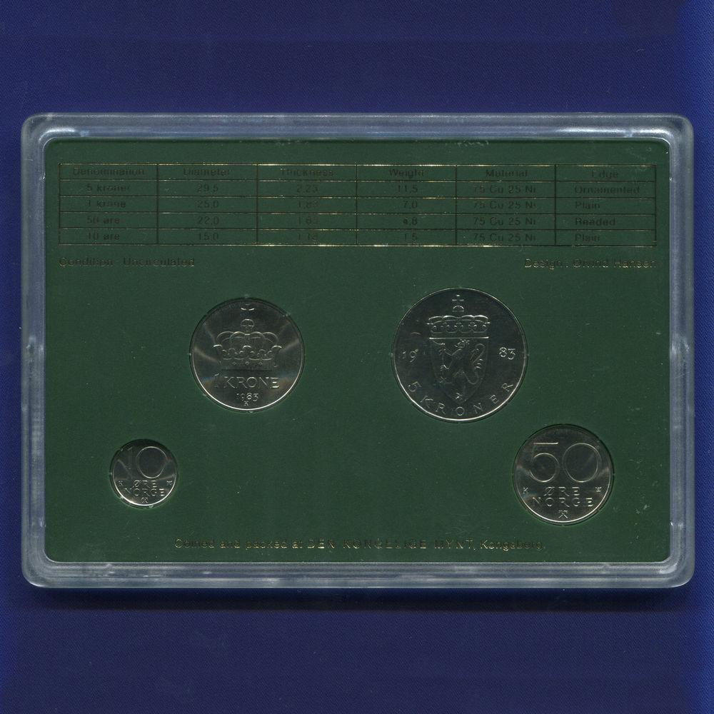 Норвегия набор - 4 монеты 1983 UNC - 1
