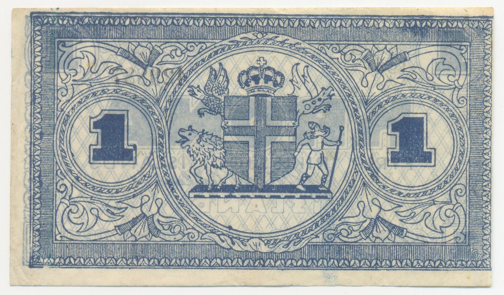 Исландия 1 кронa 1941 (44-45) - 1