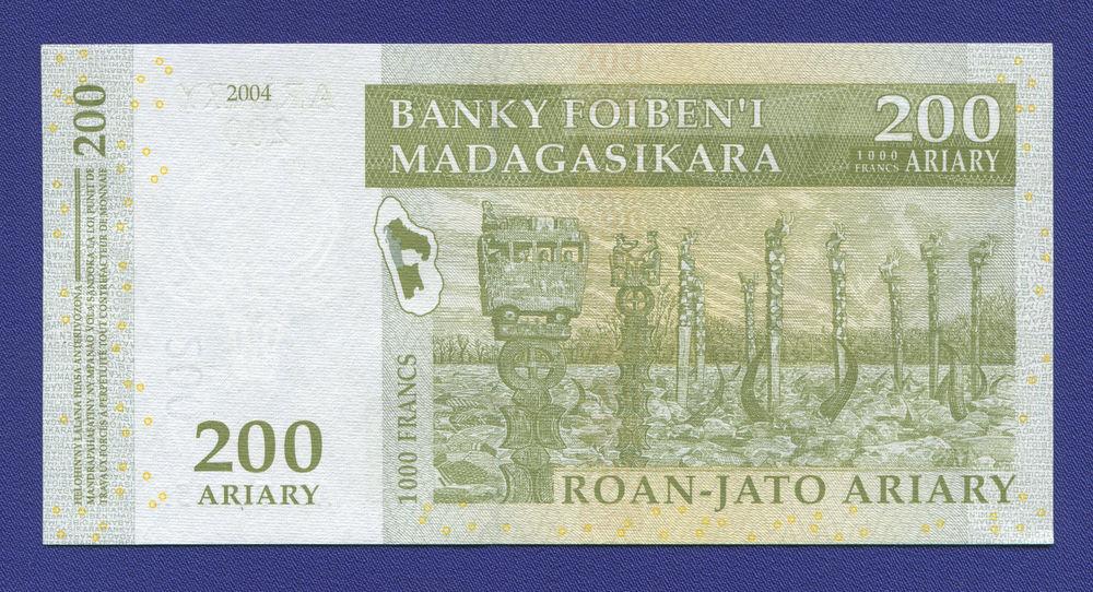 Мадагаскар 200 ариари 2004 UNC - 1