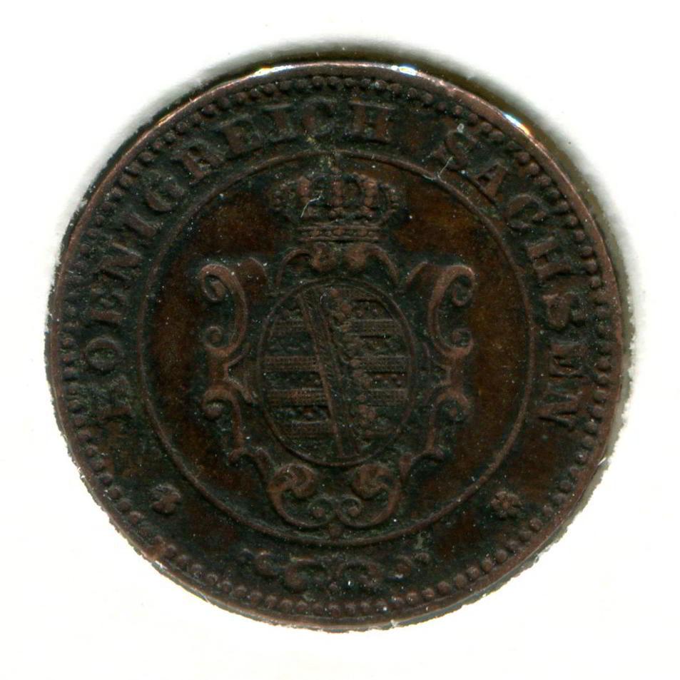 Германия/Саксония 1 пфенниг 1873 VF  - 1