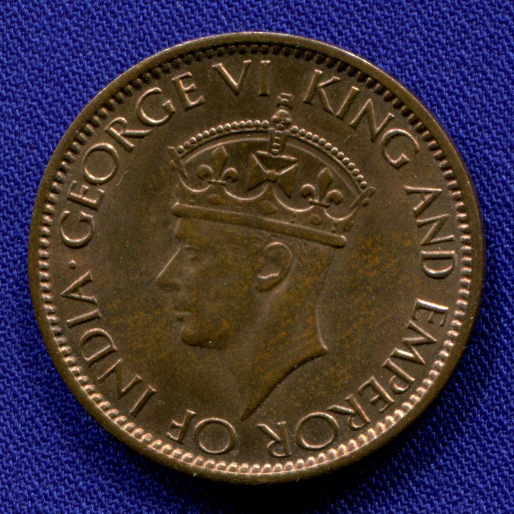 Цейлон 1 цент 1945 UNC  - 1