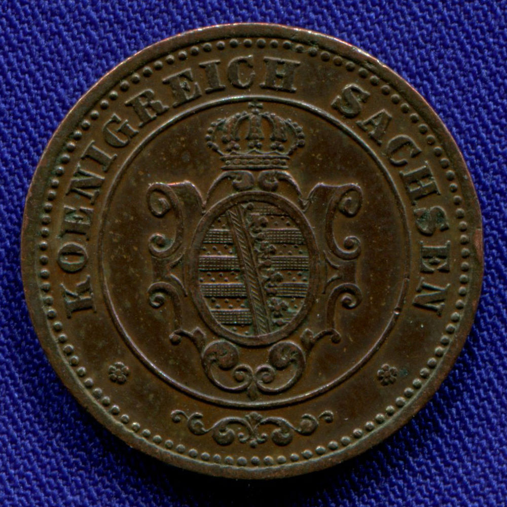 Германия/Саксония 2 пфенинга 1863 VF - 1