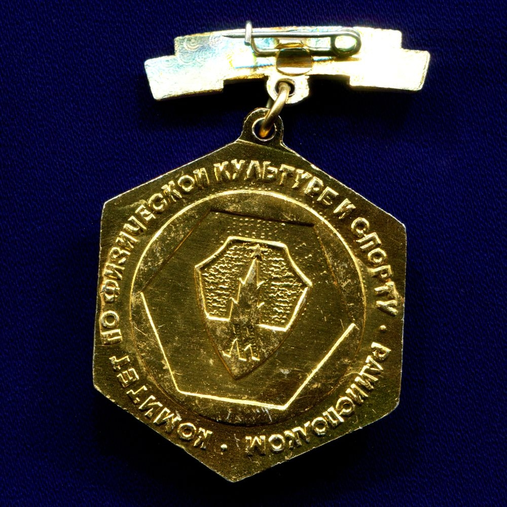 Значок «Чемпион Комитет по физической культуре и спорту Райисполком» Подвес Легкий металл Эмаль Булавка - 1