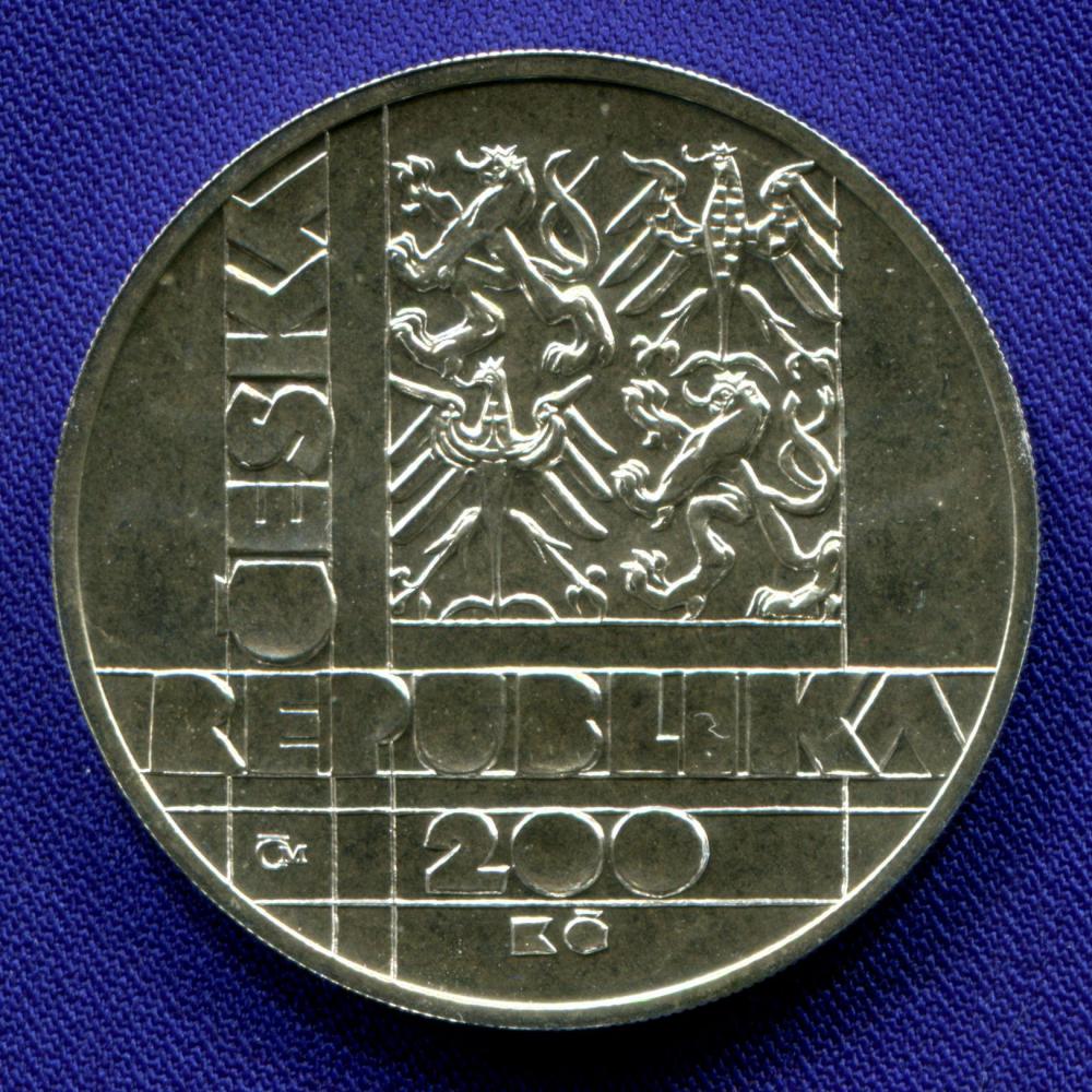 Чехия 200 крон 1999 UNC 100 лет со дня основания Технического университета в Брно  - 1