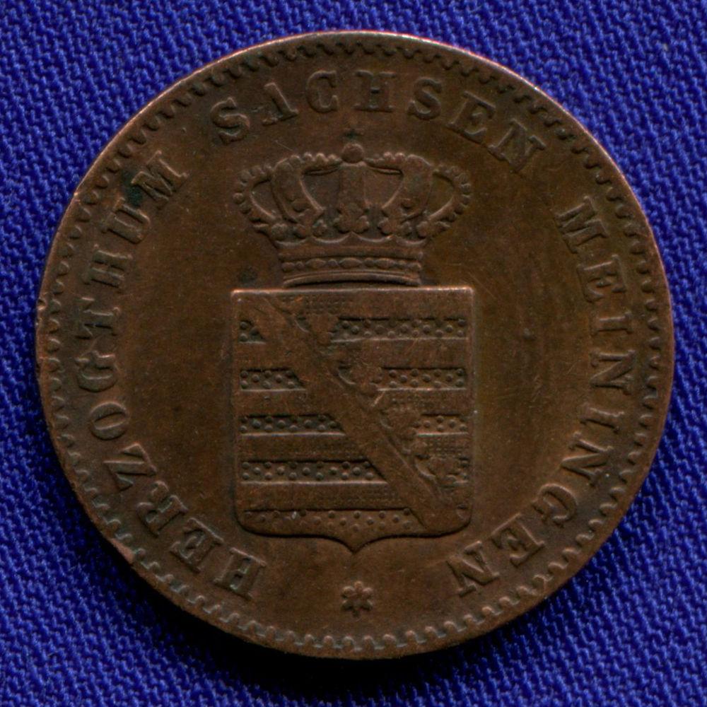Германия/Сакс-Майнинген 2 пфеннига 1862 F  - 1