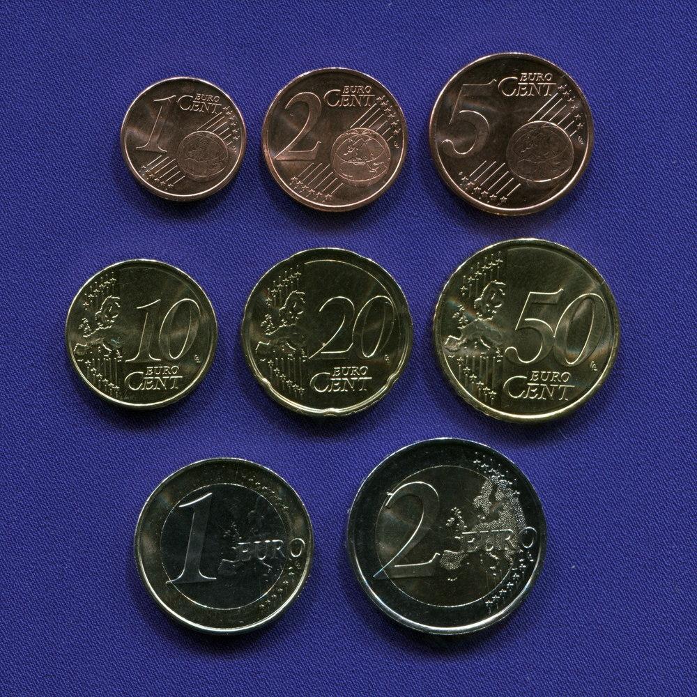 Набор монет Испании EURO 8 монет 2013 - 2015 UNC - 1