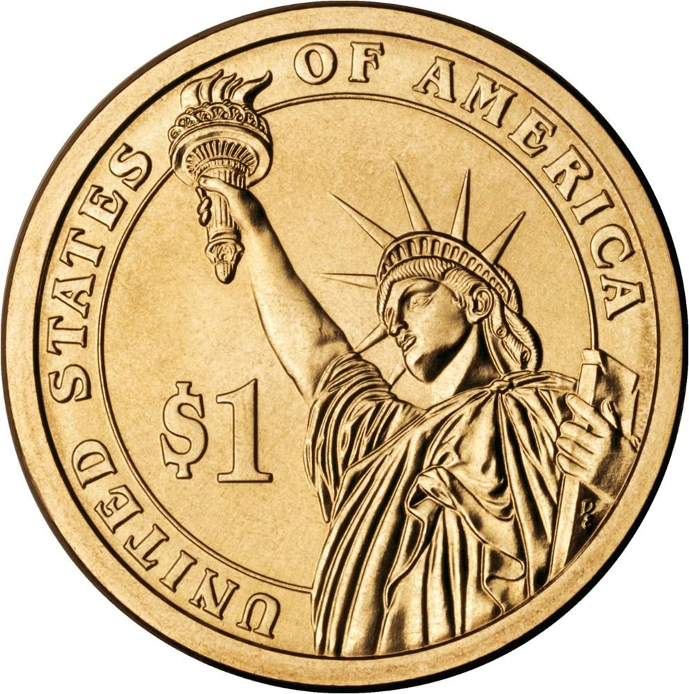 США 1 доллар 2007 года президент №3 Томас Джефферсон - 1
