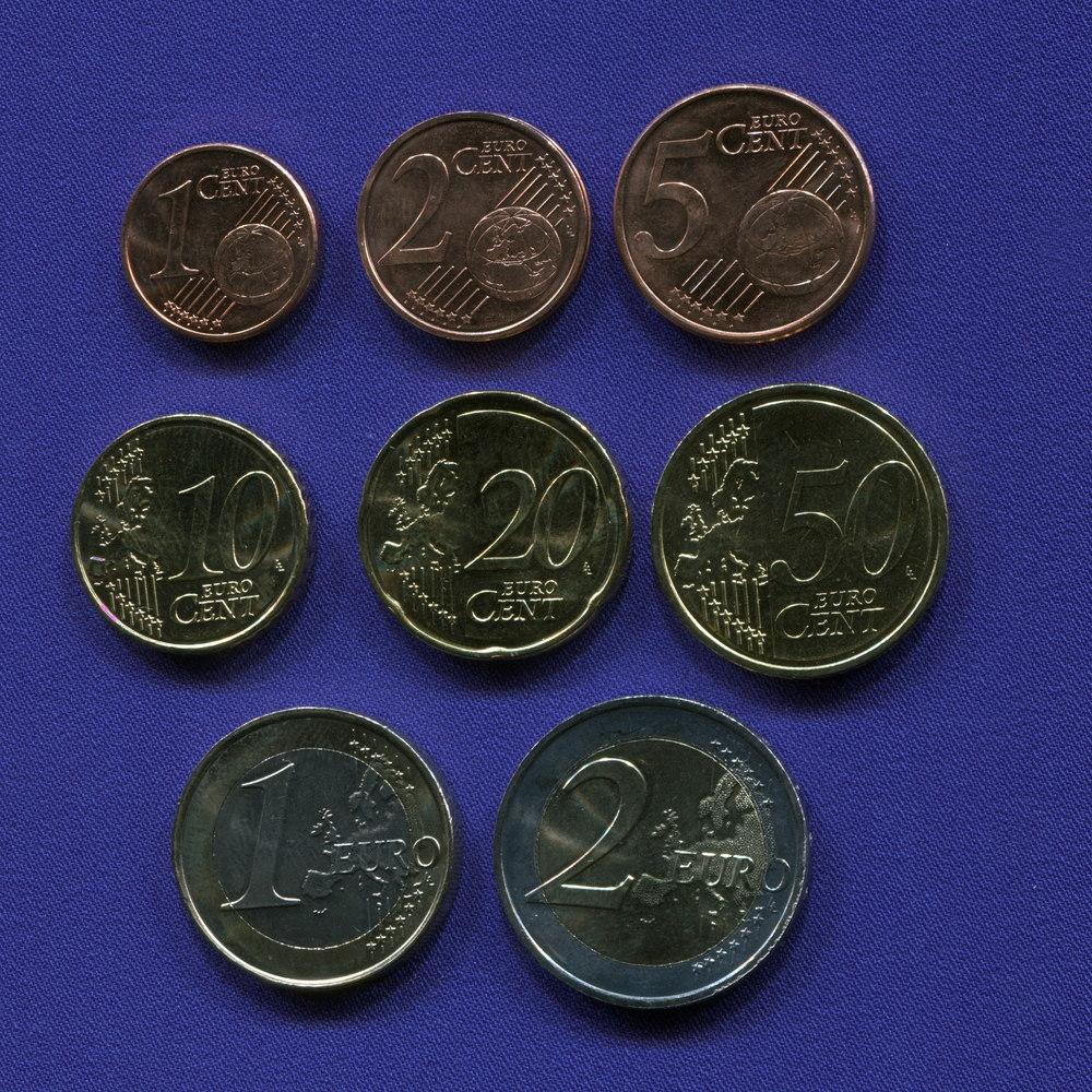 Набор монет Мальты EURO 8 монет 2008 UNC - 1