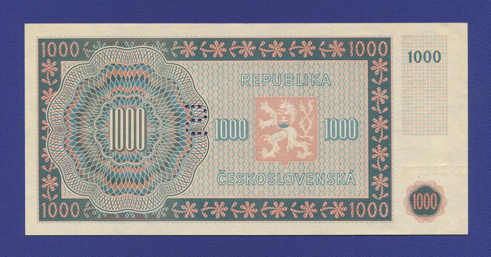 Чехословакия 100 крон 1945 UNC перфорация - 1