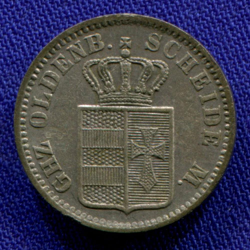 Германия/Ольденбург 1/2 гроша 1866 XF  - 1