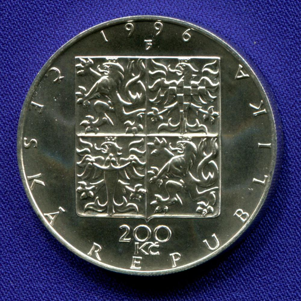 Чехия 200 крон 1996 UNC 100 лет Чешской филармонии  - 1