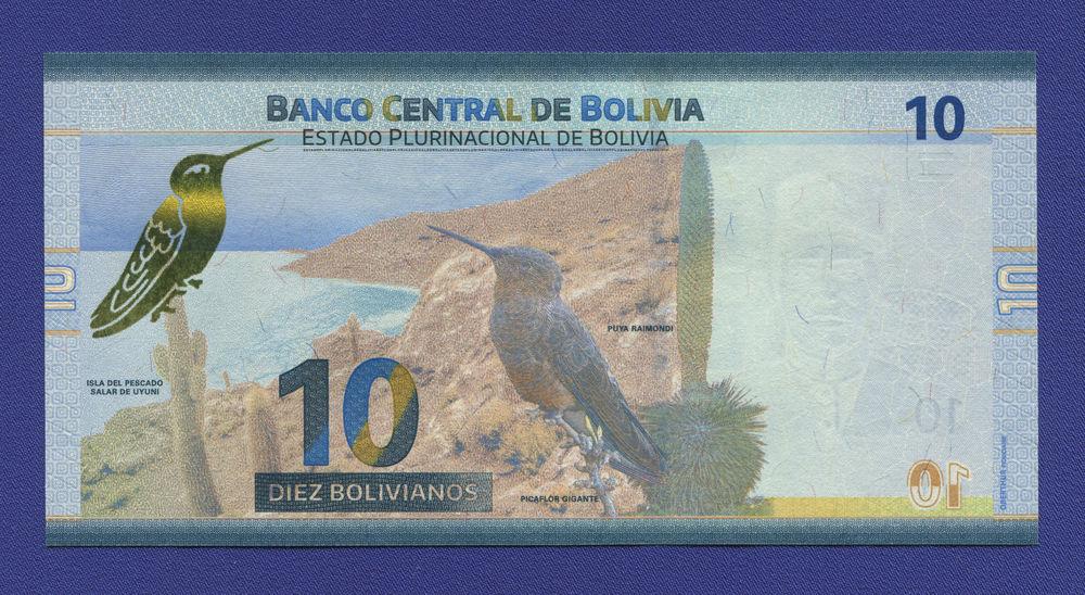 Боливия 10 боливиано 2018 UNC - 1