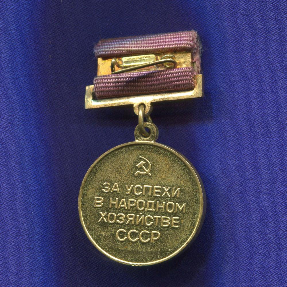 Бронзовая медаль ВДНХ «За успехи в народном хозяйстве СССР» Томпак Булавка - 1