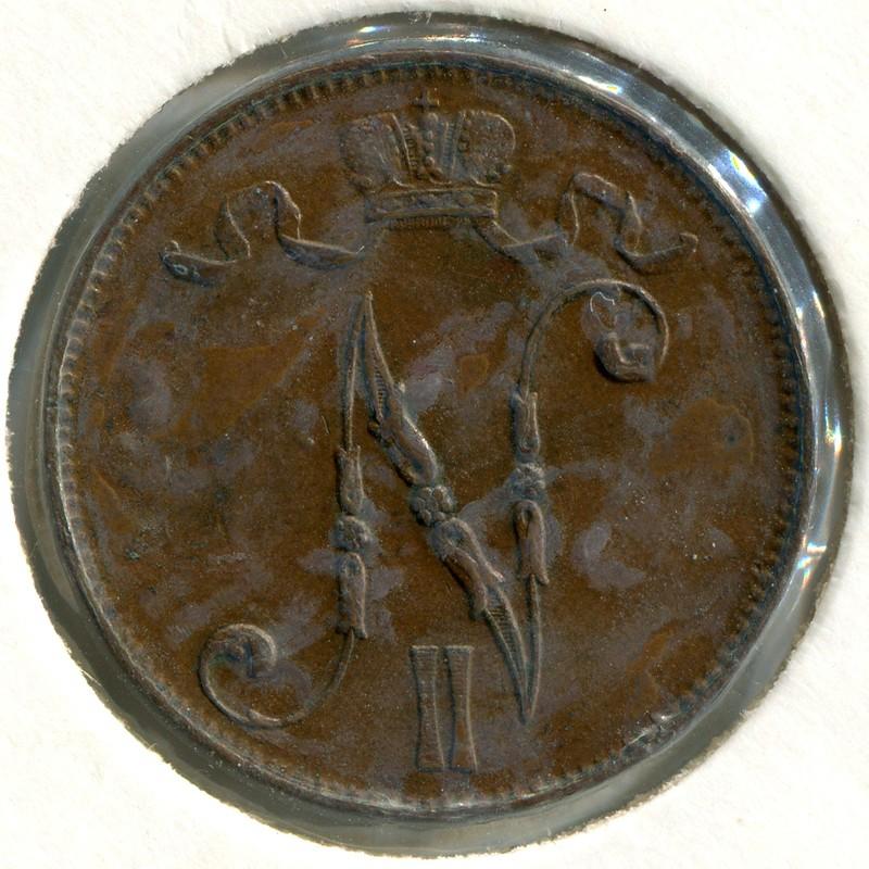 Финляндия 5 пенни 1915 #15 - 1