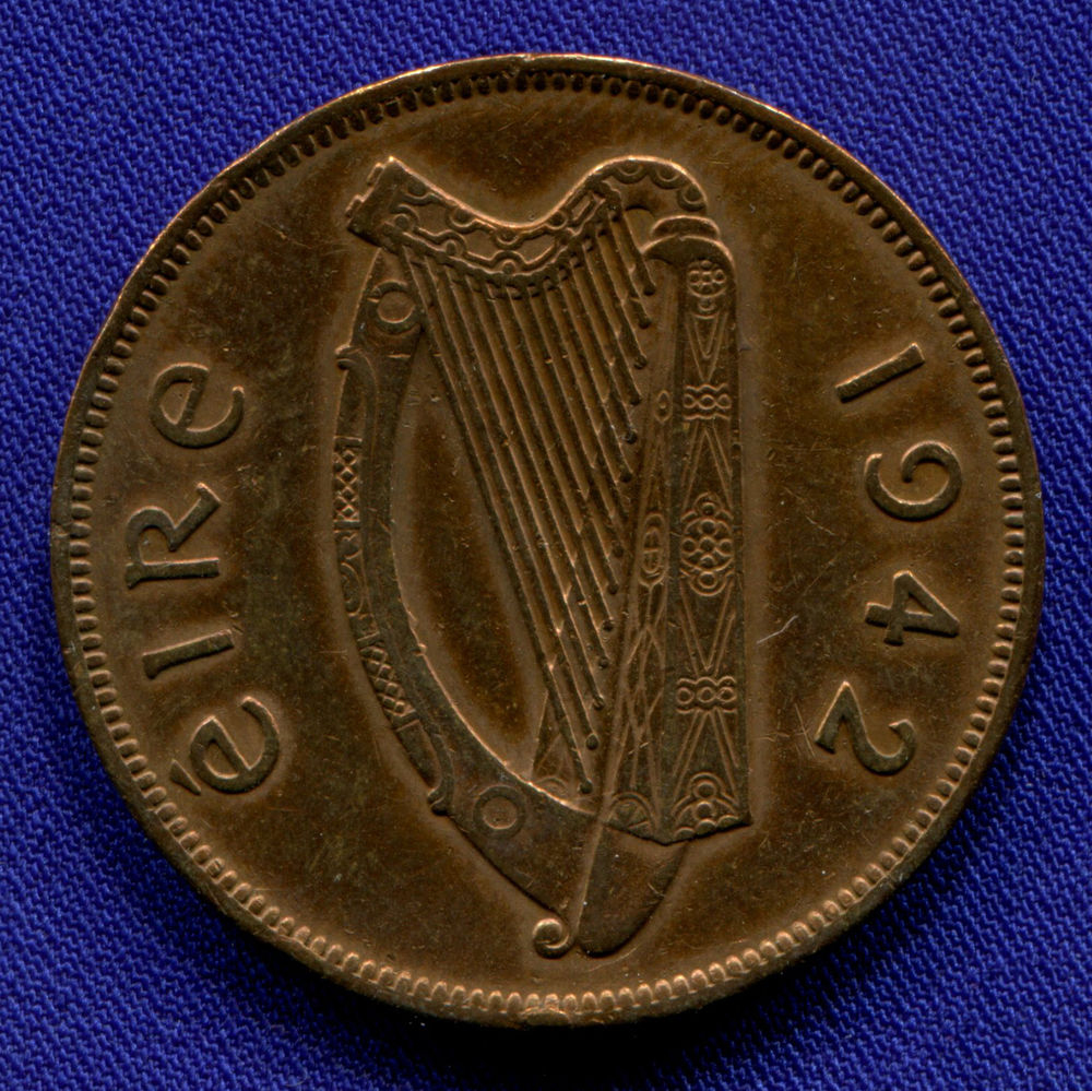 Ирландия 1 пенни 1942 VF - 1