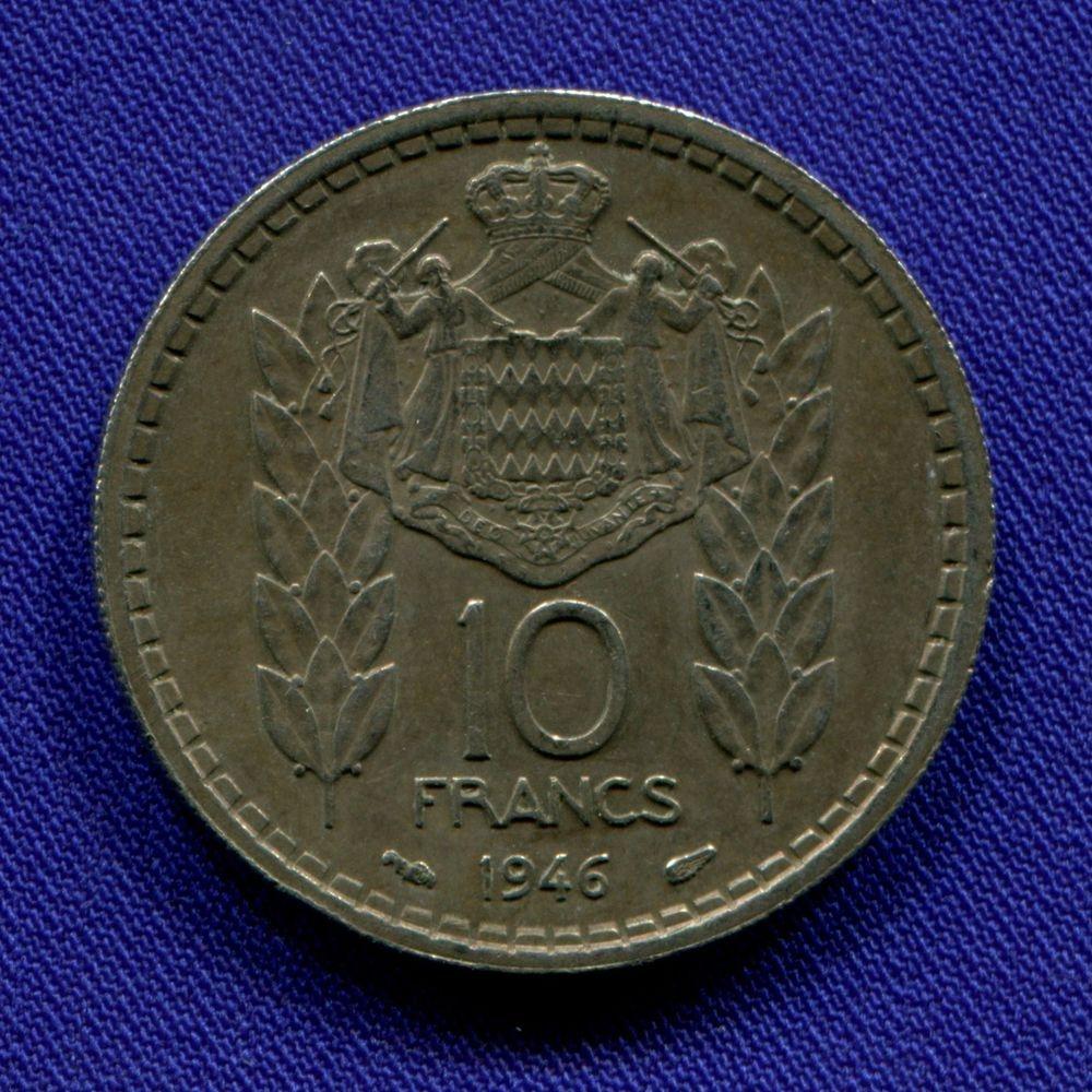 Монако 10 франков 1946 XF  - 1
