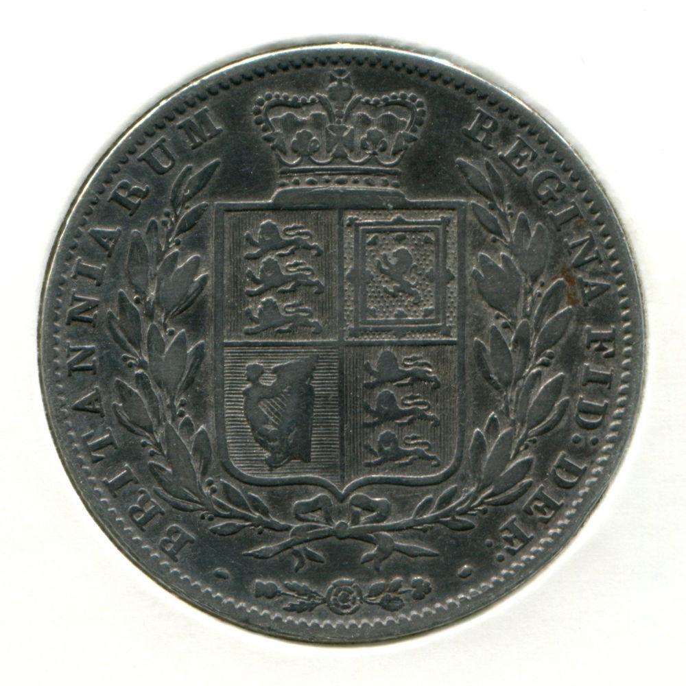 Англия 1/2 кроны 1844 VF  - 1