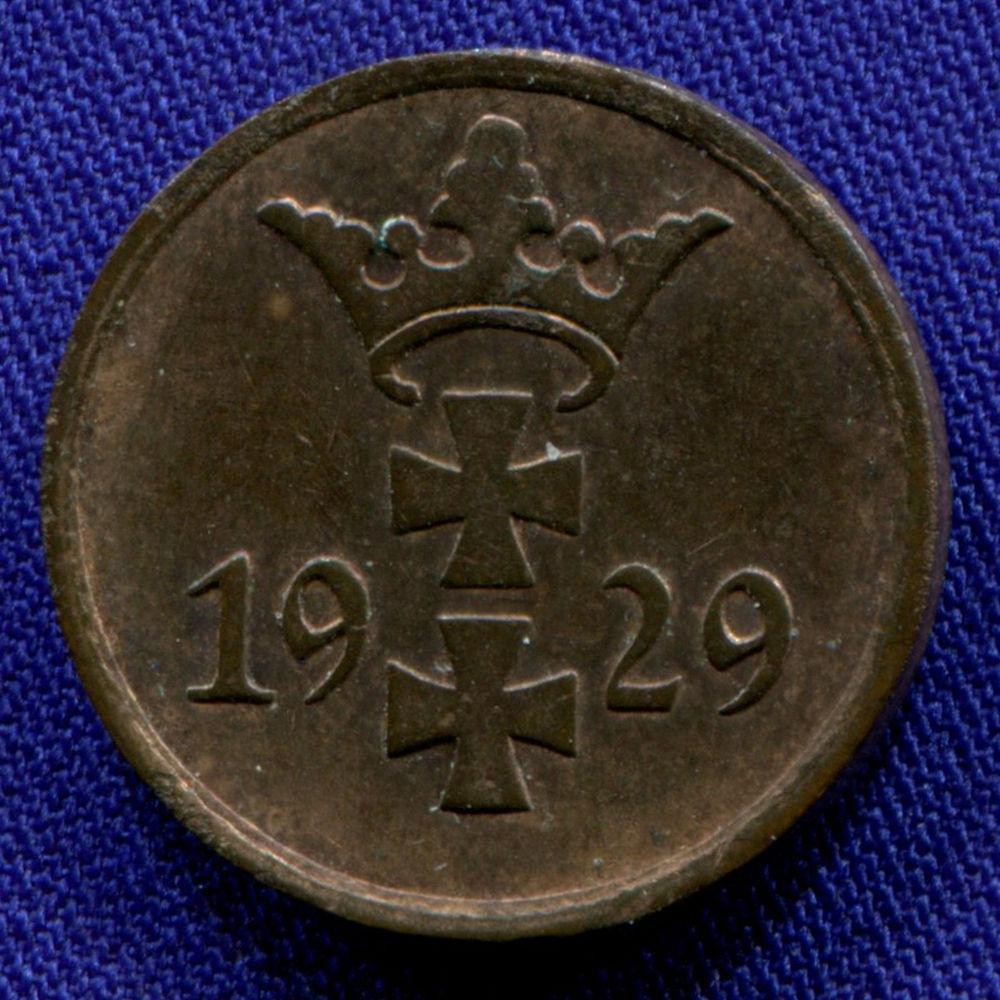 Польша/Гданьск 1 пфенниг 1929 XF  - 1