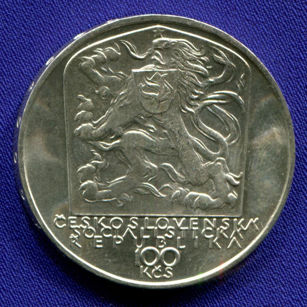 Чехословакия 100 крон 1979 UNC 150 лет со дня рождения Яна Ботто - 1