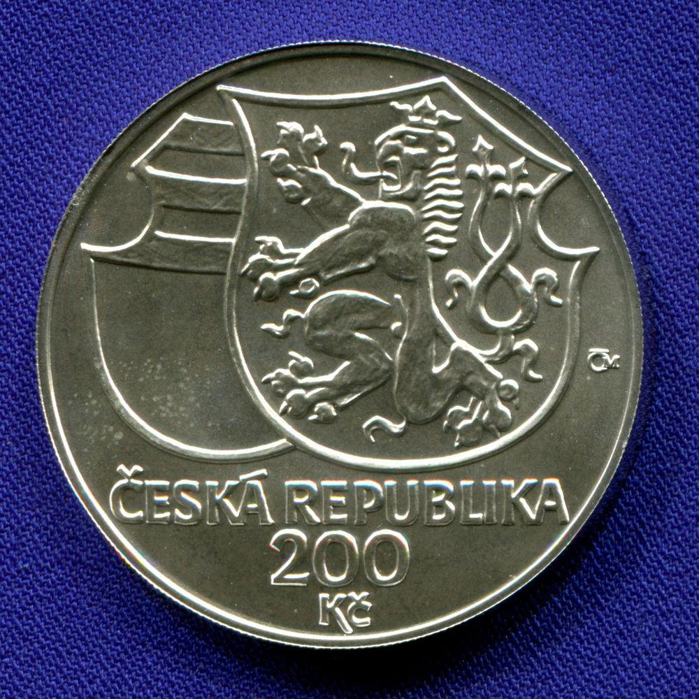 Чехия 200 крон 2002 UNC Йиржи из Подебрад  - 1
