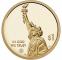 США 1 доллар 2021 UNC Американские инновации, Эри-канал, Нью-Йорк, Двор D - 1