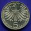 ФРГ 5 марок 1975 aUNC 100 лет со дня рождения Альберта Швейцера  - 1